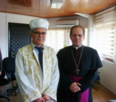 Grand Muftu, Dr Talip Atalay and Bishop Michael Lewis 2