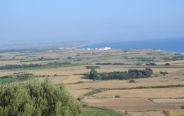 View eastward from the House of Eustolius