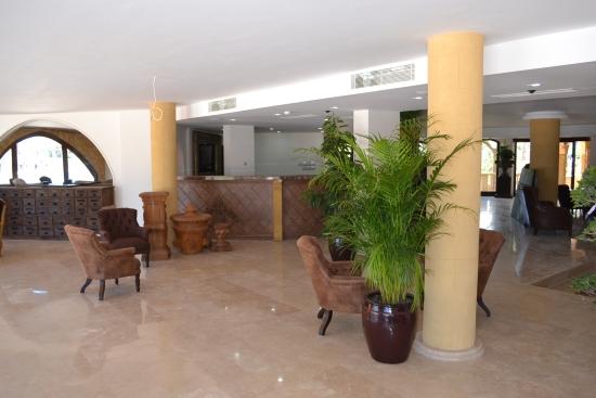 The reception area