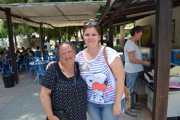 Hatice with her friend Suheyla