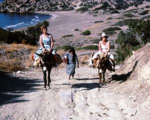 Cyprus, 22 mile beach, joan on left