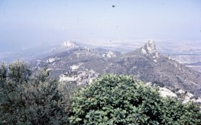 Cyprus, view from Kantara towards Panhandle