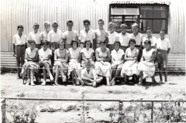 Class of 1957 thanks to pupil Ian Aldous for the picture
