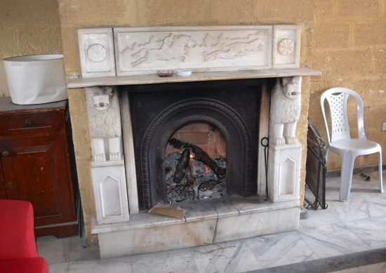 The fireplace in times gone by