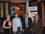 Jenny Tyler (left), Huseyin Tomgusehan (2nd from left) and 2 of the Sponsors