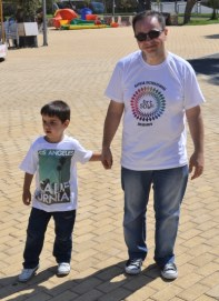 Can takes five with his son Karan