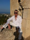 Enjoying the sun and views in North Cyprus
