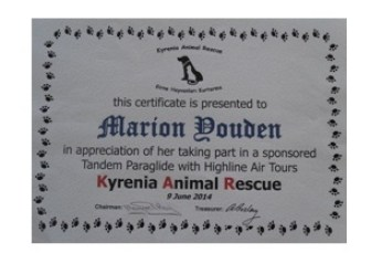Marion Youden Certificate Presentation 1