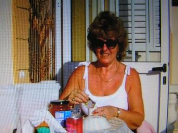 Maureen wearing her Mothers watch