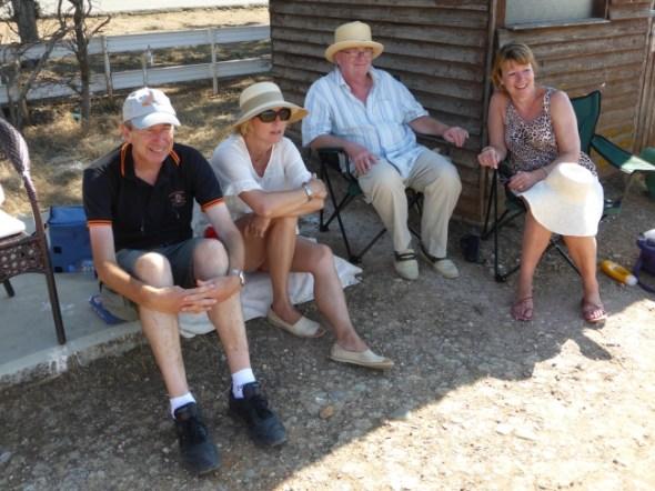 Supporters Ian Fell, Lynn Holman, Stuart and Jayne Packington