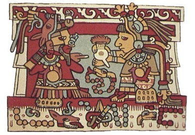 Aztecs drinking chocolate