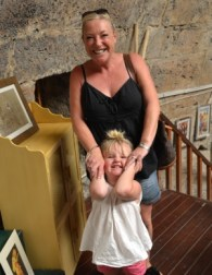 Richard's daughter Lynne and grand-daughter