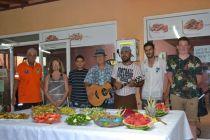 Fund raiser food on display