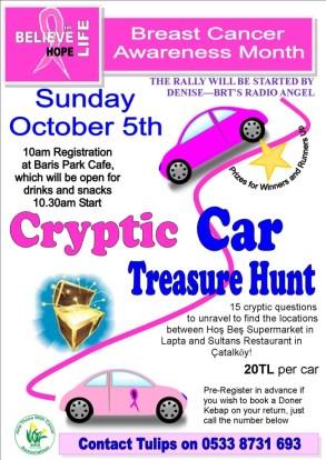 Cryptic Car Treasure Hunt, Carole