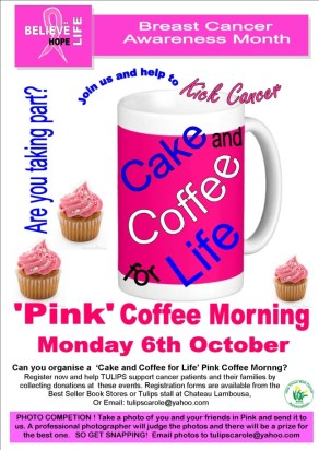 Pink Coffee Morning poster