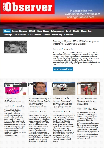 Cyprus Observer Online screen