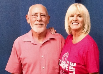 Peter Wills and Denise Phillps in the pink image