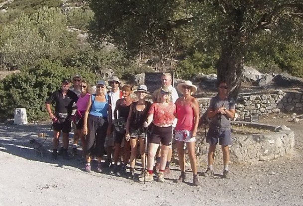 The 10 who made it at the base of Buffavento Castle plus Jarra Brown MBE