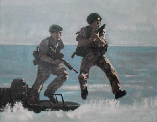 A beach landing