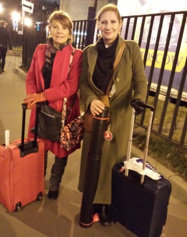 Incilay and Burcu arrive in Moscow