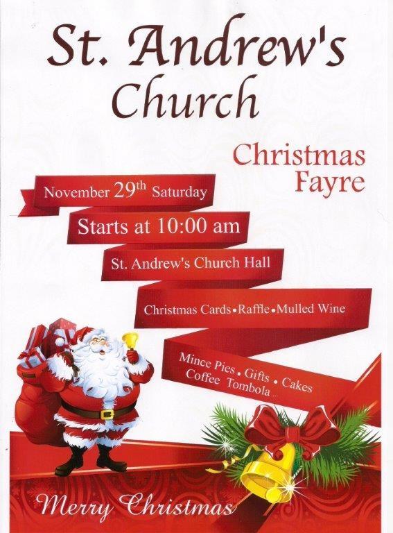 St Andrews Christmas Fayre poster