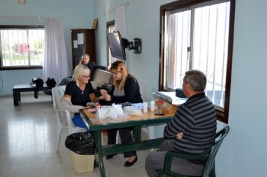 Having a cup of tea after giving blood at the Tatlisu blood donor day