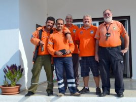 The CESV volunteers at the Tatlisu blood donor day