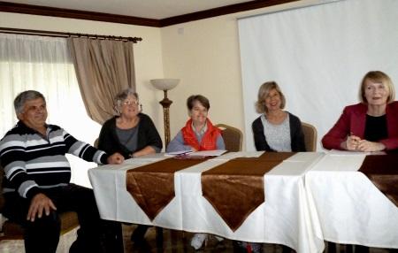 l-r Mehmet, Pauline, Laura, Sandra, Angela