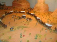 Wagon train going west 1800s
