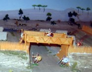 An imaginary marching camp in ancient times