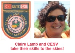 Claire Lamb CESV take their training to the skies
