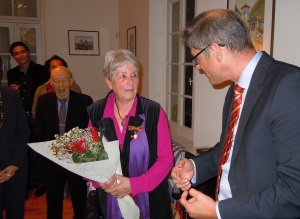 German Embassy Counsellor, Peter Neven with Heidi