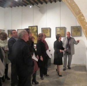 Sibel Siber at the exhibition