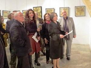 Sibel Siber visits the exhibition