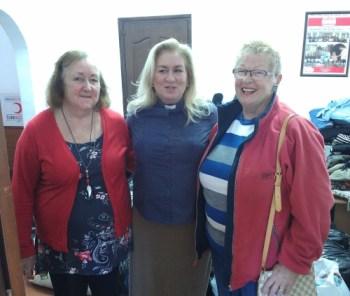 Church wardens Anne Lloyd and Lynette Oruc with Rev Wendy Hough