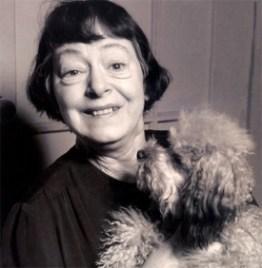Dorothy Parker and dog