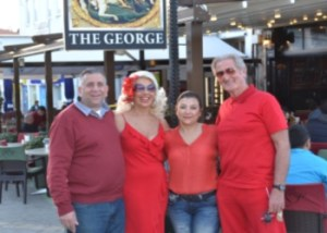 The Lady and Lads in Red  at The George image