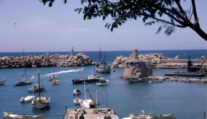 Cyprus, Kyrenia, Harbour from Harbour Club