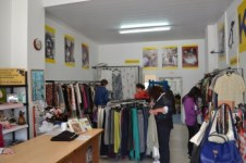 Inside the KAR clothes shop