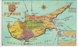 Old map of Cyprus