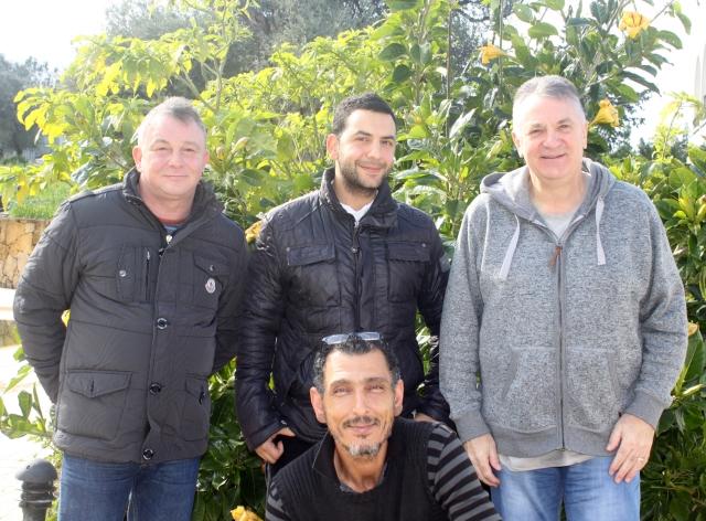 l-r Glenn King, Ahmet A+ƒik, Owner All Stars' Agency, Andrew Tait, Front, , H++seyin Mertgil, Owner, Habana Pool Bar - Copy