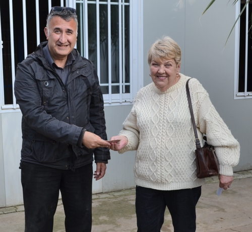 Donation from Margaret Sheard of cyprusscene.com to help re-home Fric and Frac