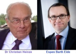 Chistian Heinze and Espen Barth Eide