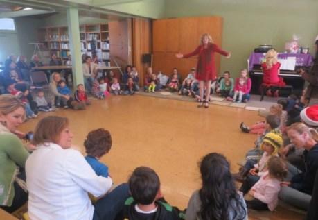 Singing for the blind children at Santa Ana Blind Children's Learning Center sister school for blind in Gaziantep Turkey