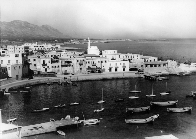 1955 Kyrenia from the castle - Picture courtesy of Rupert Baker
