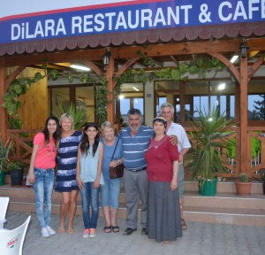 Dilara Restaurant with the family