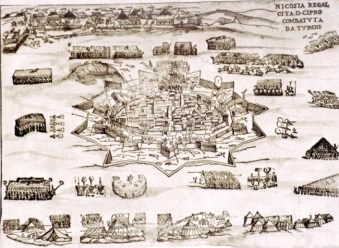 A map of the siege of Nicosia 1571
