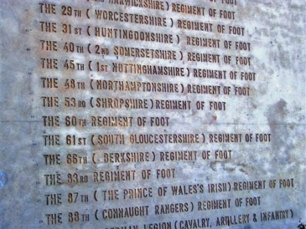 British Memorial at the site of the Battle of Talavera - Picture courtesy of John Cancilla