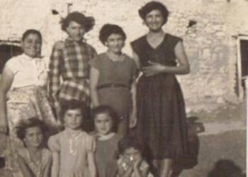Mum, family and friends in Melusha 1956