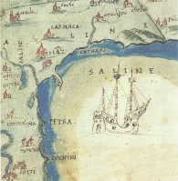 The bay of Salines as drawn by Leonida Attar